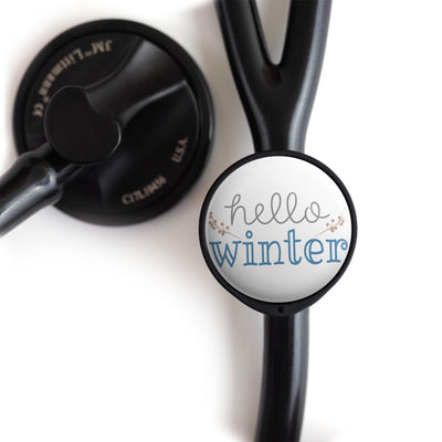 Hello Winter Stethoscope Tag -  - Beyond The Scrubs