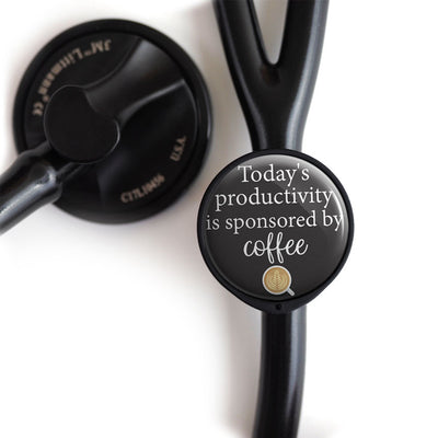 Today's Productivity Sponsored By Coffee Stethoscope Tag -  - Beyond The Scrubs