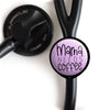 Mama Needs Coffee Stethoscope ID Tag -  - Beyond The Scrubs