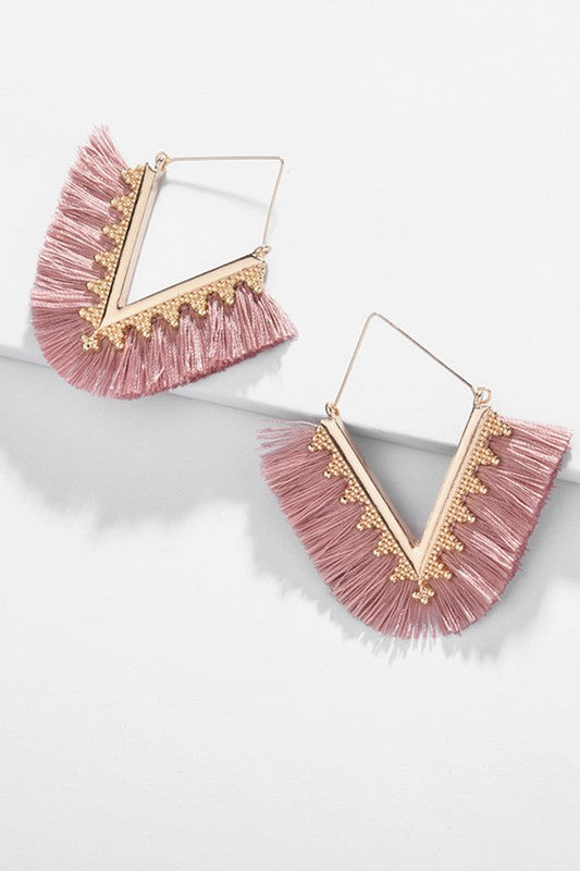 the lola drop earrings [pink] - Grace and Edge Boutique