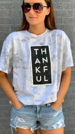 thankful marble tee [gray] - Grace and Edge Boutique