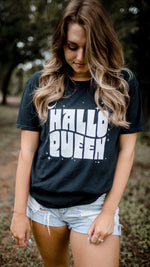 hallo queen graphic tee [black]