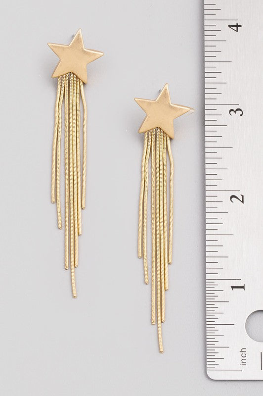 star drop earrings [gold]