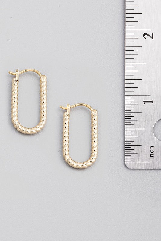 twisted oval hoops [gold]