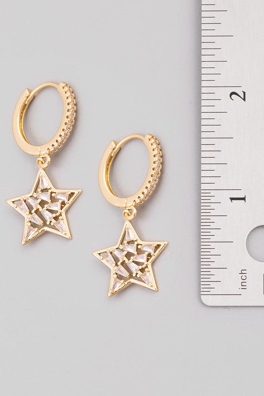 mini star huggie earrings