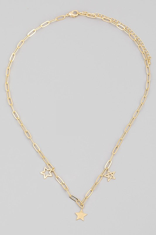 chain link star necklace