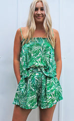 into the jungle shorts [green] - Grace and Edge Boutique