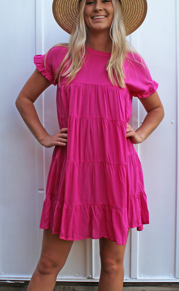 key to happiness dress [fuchsia]