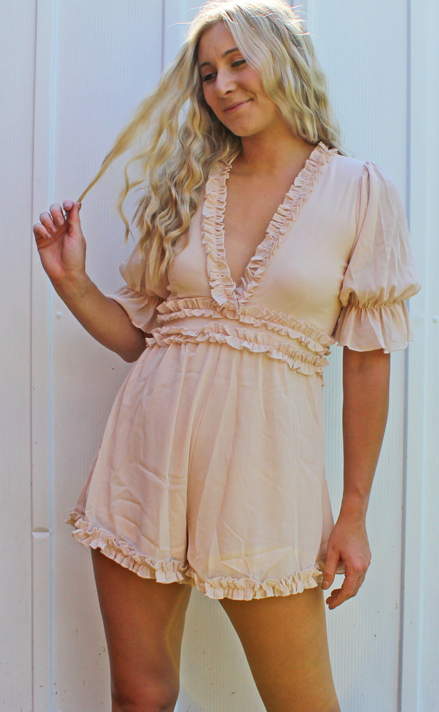 blushing babe romper [blush] - Grace and Edge Boutique
