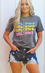 girl power graphic tee [charcoal]