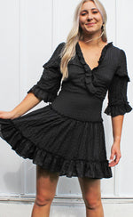 easy days crinkle dress [black]