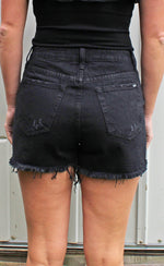 summertime screamin shorts [black denim] - Grace and Edge Boutique
