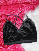 velvet bralette [black] - Grace and Edge Boutique