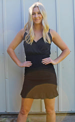 photo finish smocked dress [black]