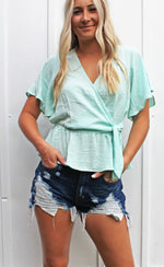 pinky promise top [mint] - Grace and Edge Boutique