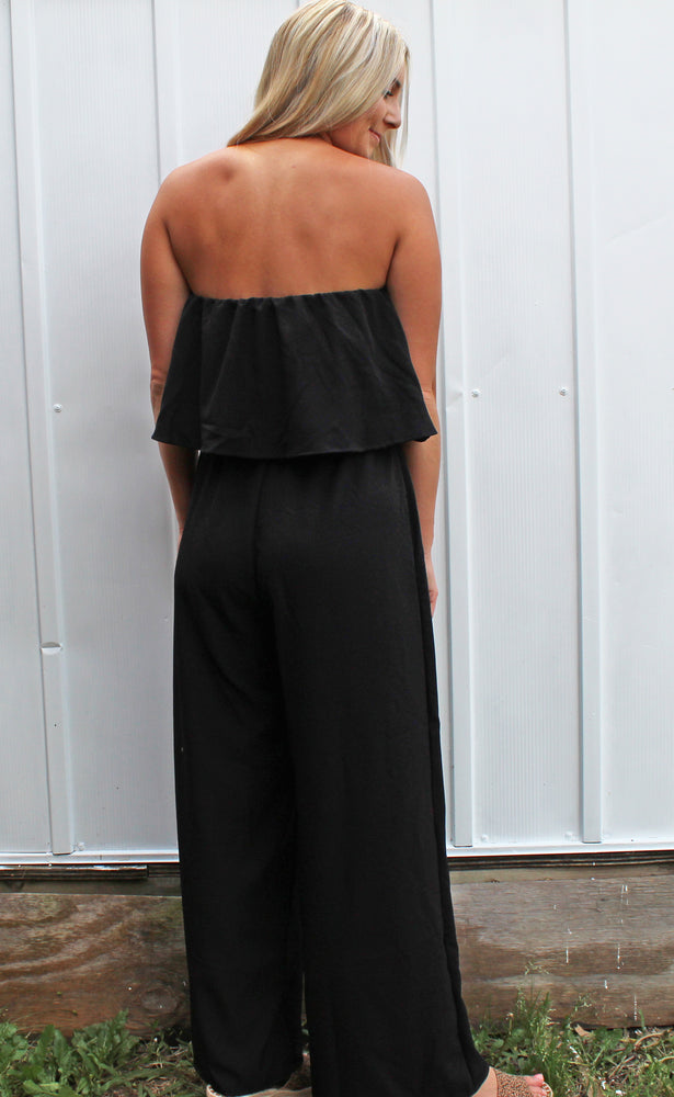 serious showstopper jumpsuit [black] - Grace and Edge Boutique