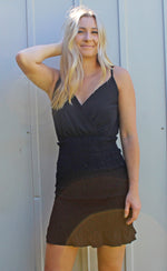 photo finish smocked dress [black] - Grace and Edge Boutique