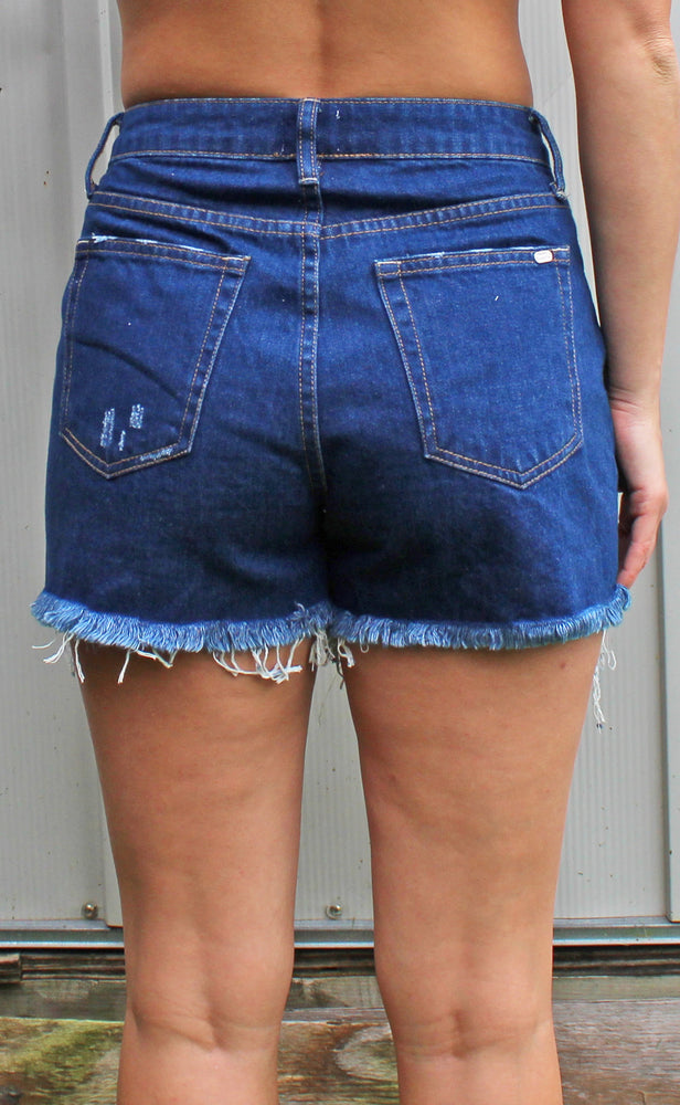 summertime screamin shorts [dark denim] - Grace and Edge Boutique