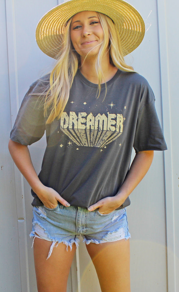 dreamer graphic tee [charcoal]