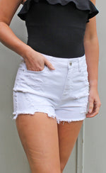 bali breeze shorts [white] - Grace and Edge Boutique
