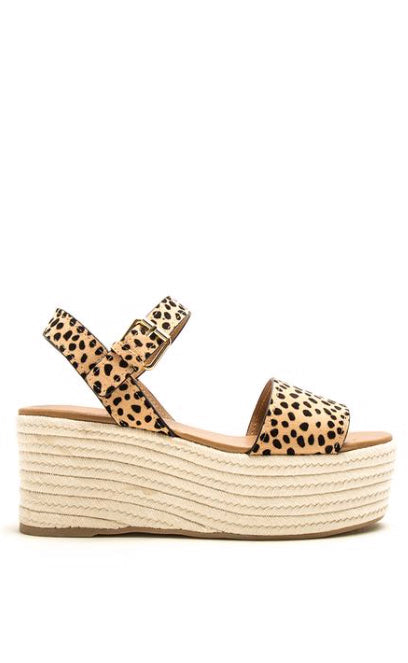 cheetah platform wedge [tan/black] - Grace and Edge Boutique