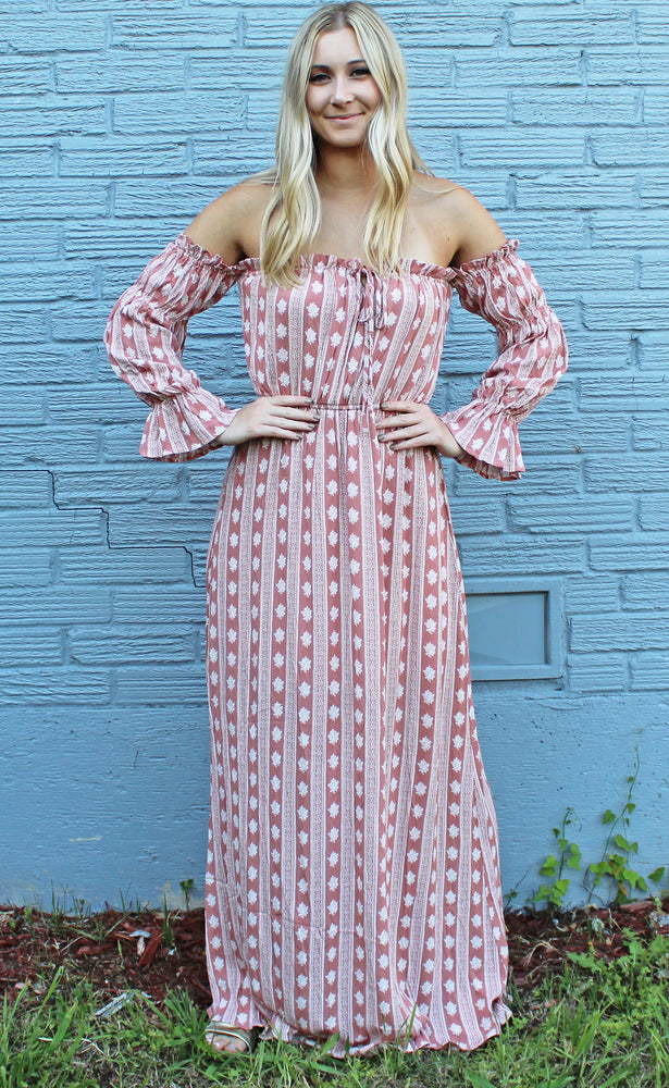 boho dreams maxi dress [mauve] - Grace and Edge Boutique