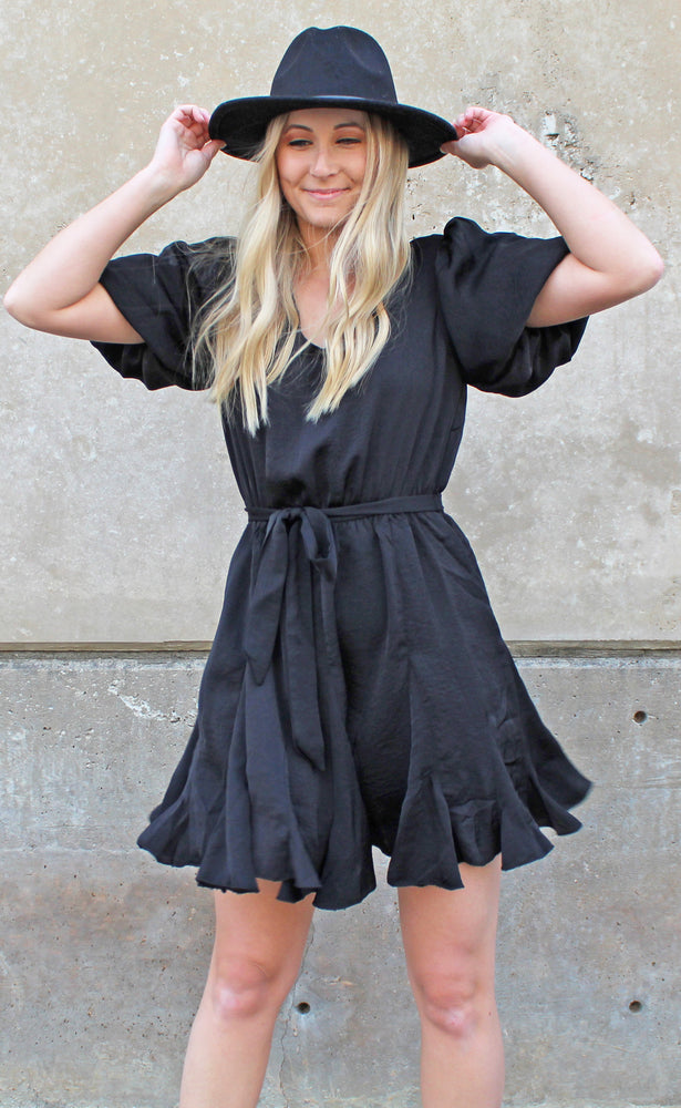 southern sweetheart dress [black] - Grace and Edge Boutique