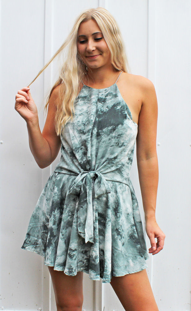 ocean eyes romper [slate green] - Grace and Edge Boutique