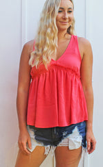 coral reef is calling tank [coral] - Grace and Edge Boutique