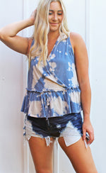 down to earth tank [blue] - Grace and Edge Boutique