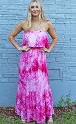 caribbean chillin tie dye maxi [hot pink] - Grace and Edge Boutique
