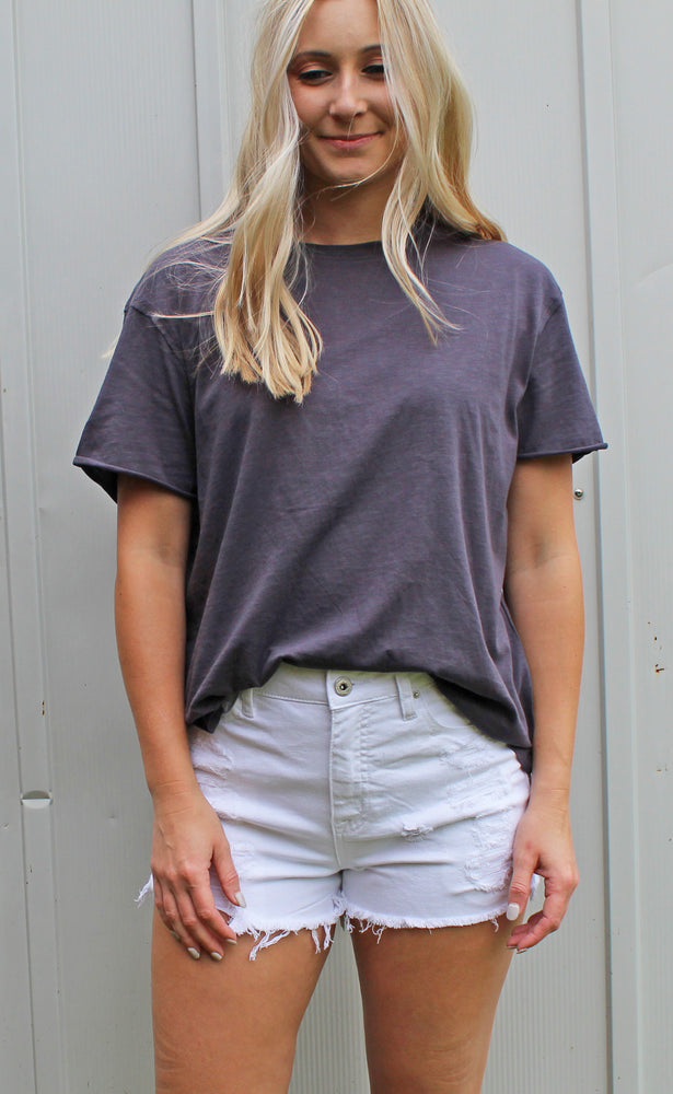way too basic top [charcoal]