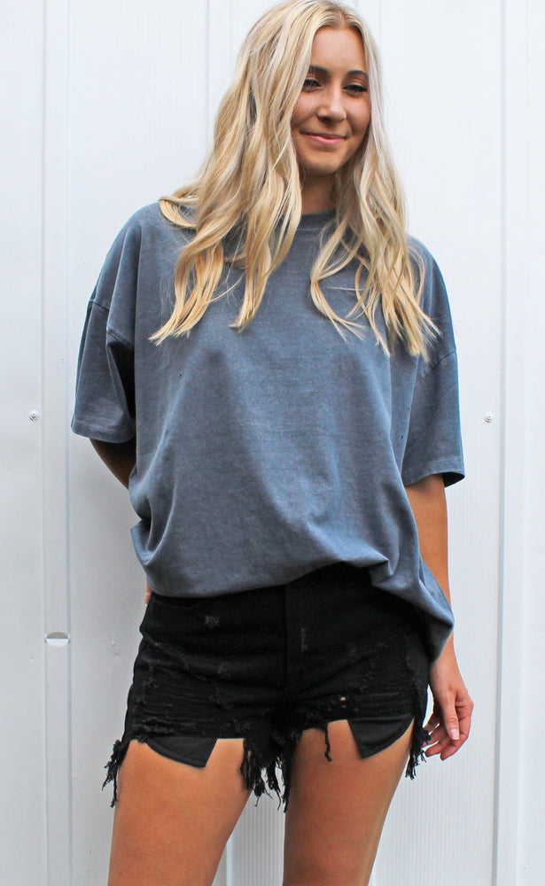 you go girl tee [blue night] - Grace and Edge Boutique