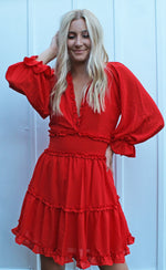tried & true dress [red/orange] - Grace and Edge Boutique