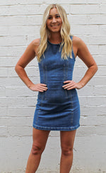spring break babe denim dress [denim]