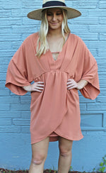 ready set party dress [apricot] - Grace and Edge Boutique