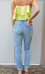 relax the day away distressed mom jeans [light denim] - Grace and Edge Boutique