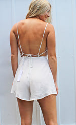 bridal babe romper [white] - Grace and Edge Boutique