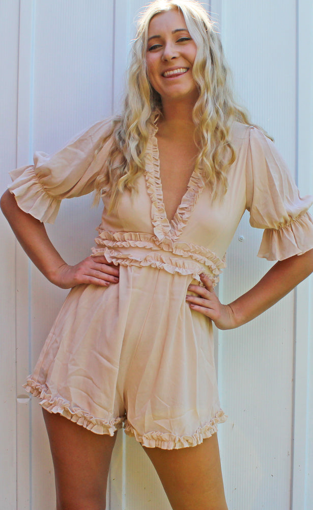 blushing babe romper [blush]