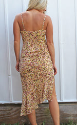 sunshine sweetie midi dress [cream/mauve] - Grace and Edge Boutique