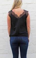 my sweet side cami [black] - Grace and Edge Boutique