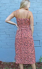 sunsets & santorini dress [coral] - Grace and Edge Boutique