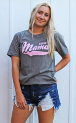 super mama graphic tee [charcoal] - Grace and Edge Boutique