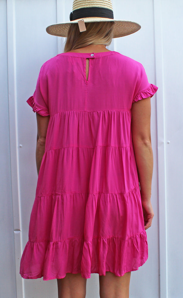 key to happiness dress [fuchsia] - Grace and Edge Boutique