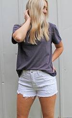 way too basic top [charcoal] - Grace and Edge Boutique
