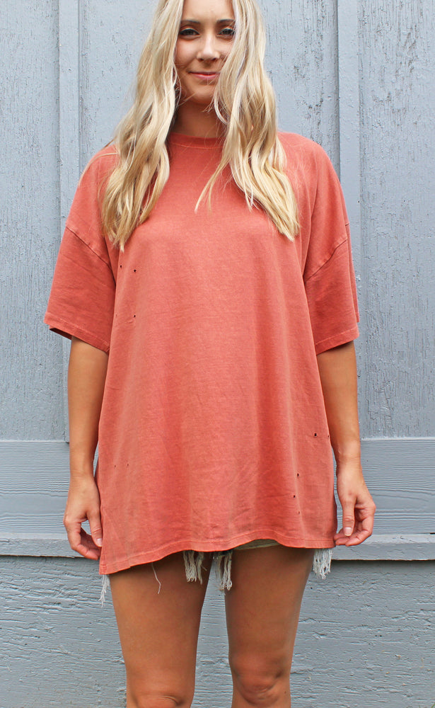 you go girl tee [terracotta] - Grace and Edge Boutique