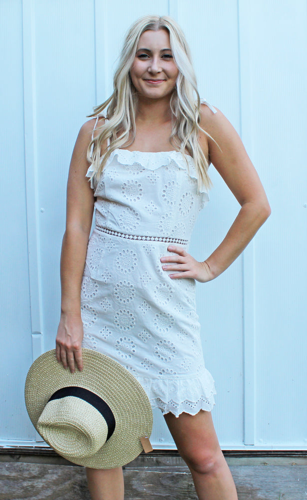 headed to the hamptons dress [white] - Grace and Edge Boutique