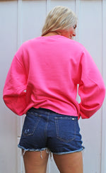 RESTOCK! | out of office crop sweatshirt [hot pink] - Grace and Edge Boutique