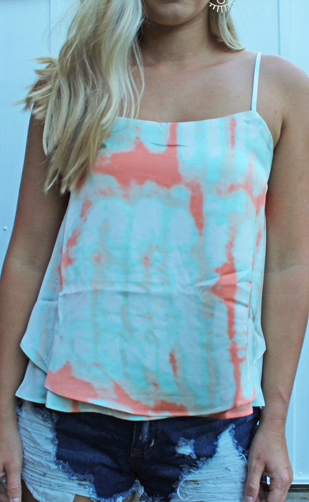 mint to be tie dye tank [mint] - Grace and Edge Boutique