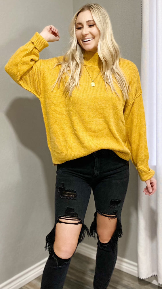 doing my best sweater [mustard]